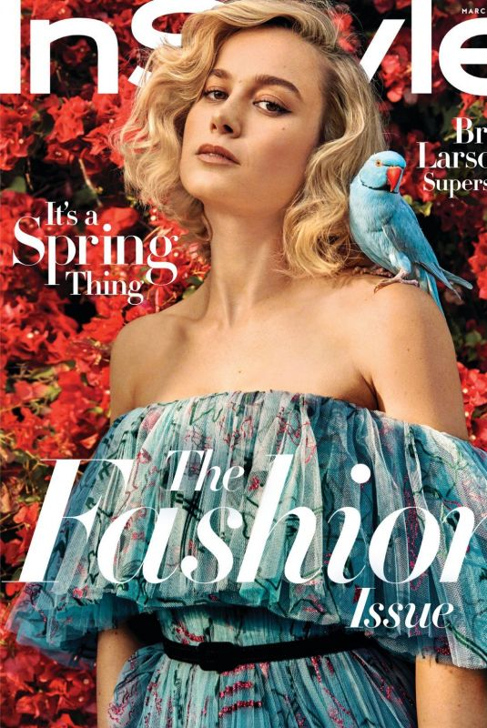 BRIE LARSON in Instyle Magazine, March 2019