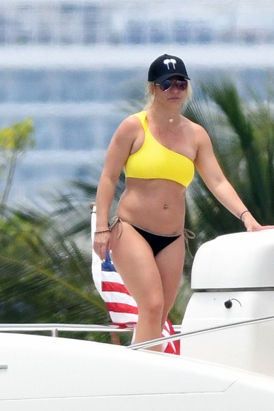BRITNEY SPEARS in Bikini at a Yacht in Miami 06/08/2019