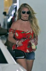 BRITNEY SPEARS in Denim Shorts Out in Thousand Oaks 06/28/2019