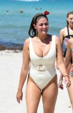BRITTANY CATWRIGHT in Swimsuit at a Beach in Miami 06/06/2019