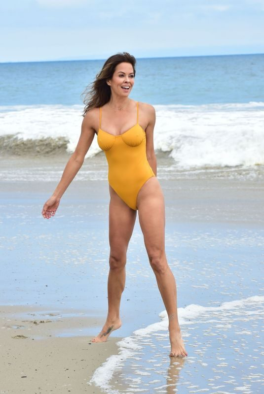 BROOKE BURKE in Swimsuit at a Beach in Malibu 06/03/2019