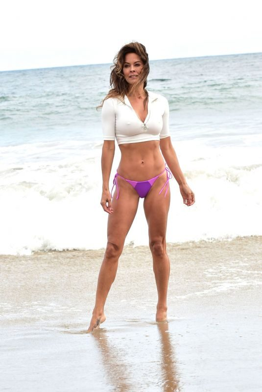 BROOKE BURKE in Bikini Bottom on the Beach in Malibu 06/20/2019