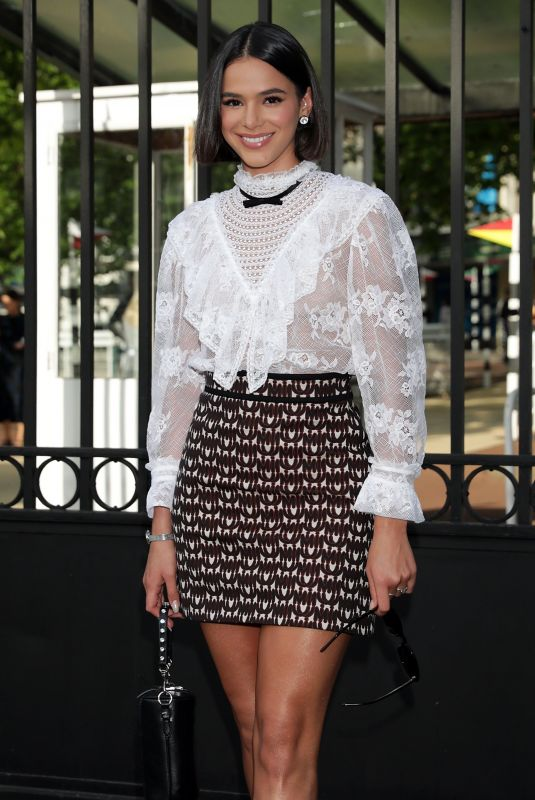 BRUNA MARQUEZINE Leaves Miu Miu Resort 2020 Show at Haute Couture Week in Paris 06/29/2019