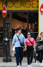 CAMILA MENDES and Charles Melton Out in Paris 05/31/2019