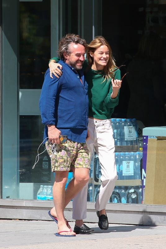 CAMILLE ROWE and James McLeod Taylor Out in New York 06/04/2019