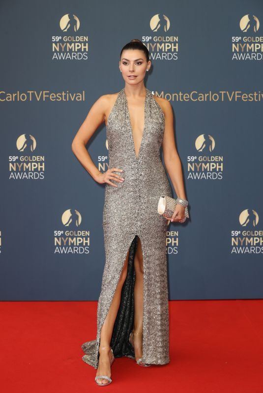 CANDICE PASCAL at 59th Monte Carlo TV Festival Golden Nymph Awards Ceremony 06/19/2019