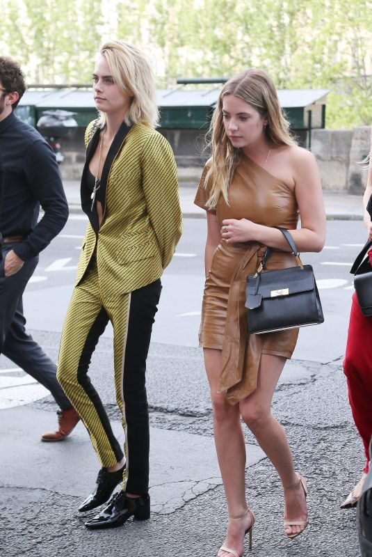 CARA DELEVINGNE and ASHLEY BENSON at Laperouse Restaurant in Paris 06/28/2019
