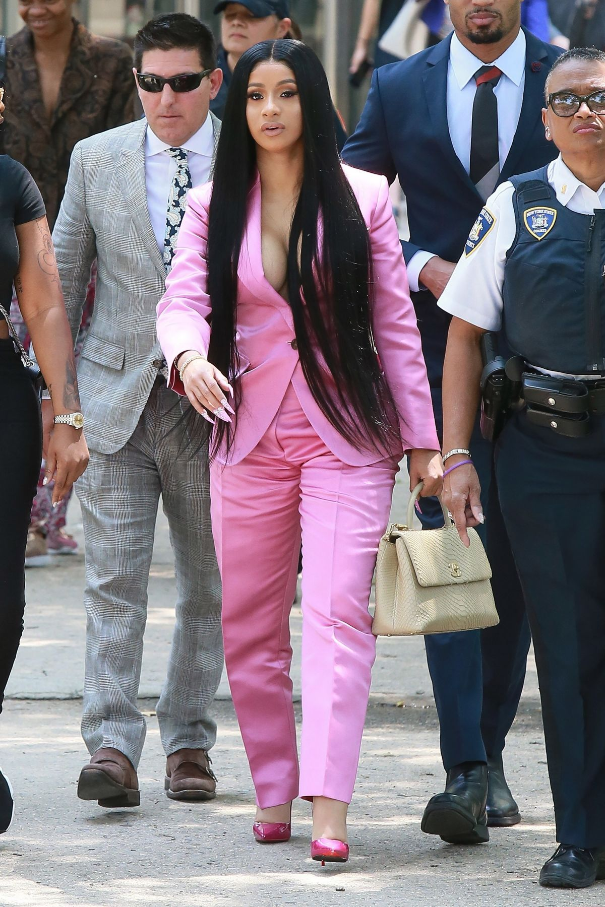 Cardi B Court: CARDI B Arrives At Her Trial At Queens Criminal Court In