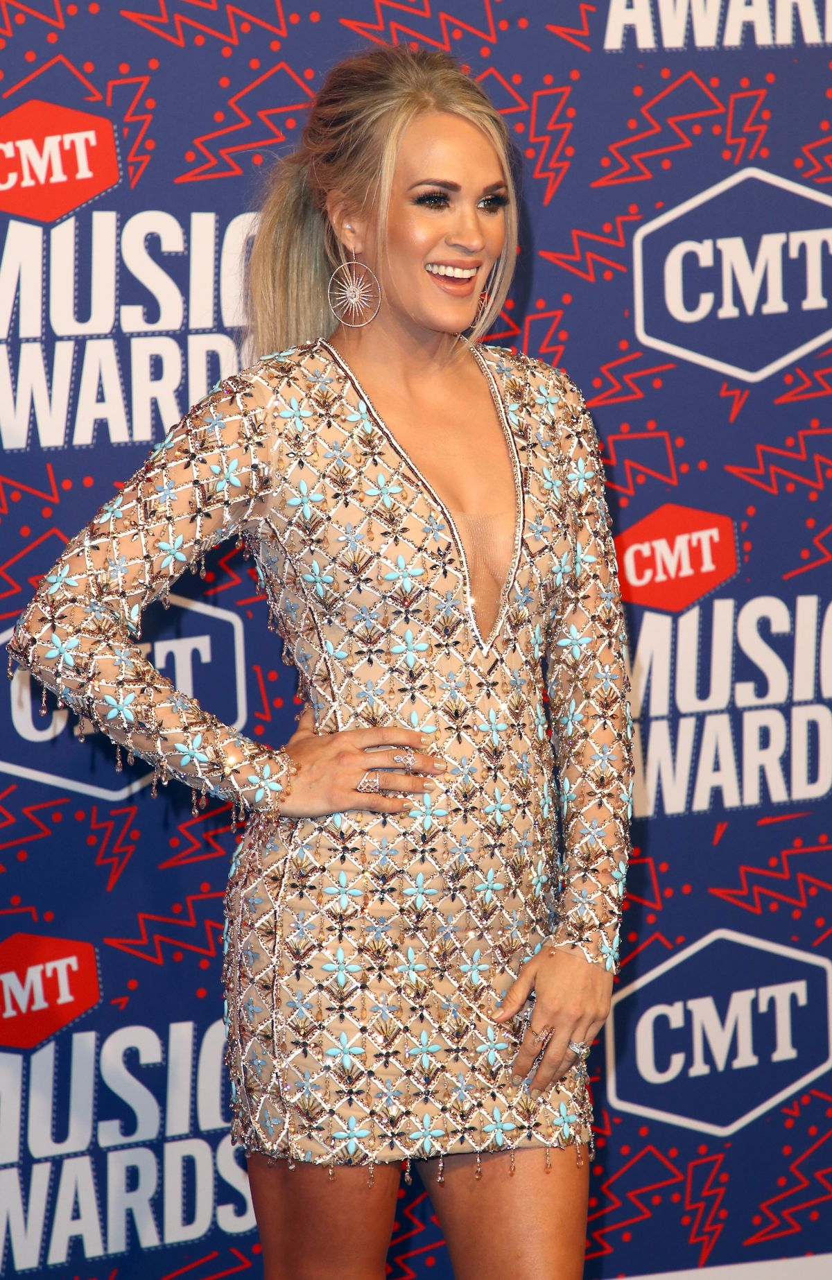 Carrie Underwood At 2019 Cmt Music Awards In Nashville 06