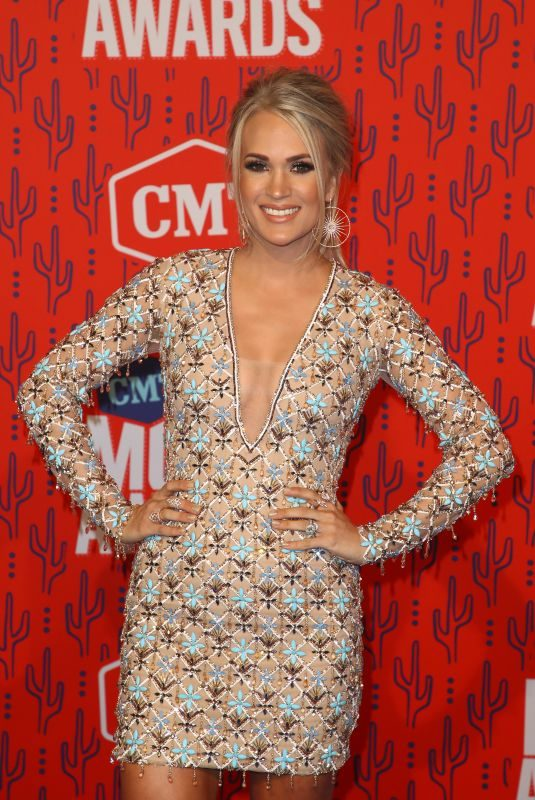 CARRIE UNDERWOOD at 2019 CMT Music Awards in Nashville 06/05/2019