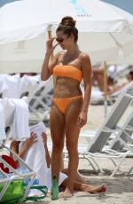 CATHY HUMMELS in Bikini at a Beach in Miami 06/13/2019