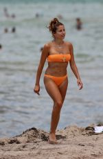 CATHY HUMMELS in Bikini on the Beach in Miami 06/13/2019