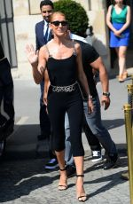CELINE DION Leaves Hotel Le Crillon in Paris 06/27/2019