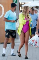 CHARLOTTE CROSBY in Swimsuit on Holiday in Ibiza 06/15/2019