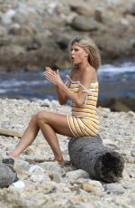 CHARLOTTE MCKINNEY on the Set of a Photoshoot in Los Angeles 06/10/2019