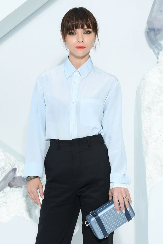 CHRISTINA RICCI at Dior Homme Menswear Spring/Summer 2020 Fashion Show in Paris 06/21/2019