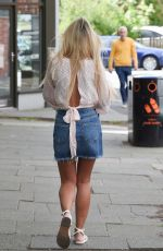 CHRISTINE MCGUINNESS in Denim Skirt Out in Cheshire 05/24/2019