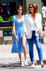 CINDY CRAWFORD and KAIA GERBER Out Shopping in New York 06/09/2019