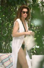 CINDY CRAWFORD in Bikini on Vacation in Miami 06/22/2019