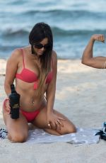 CLAUDIA ROMANI nad DAISY JAE in Bikinis Doing Yoga in South Beach 06/23/2019