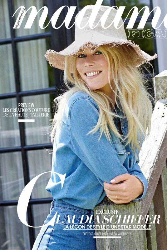 CLAUDIA SCHIFFER in Madame Figaro Magaizne, June 2019