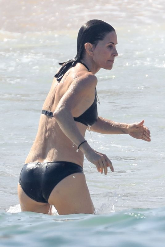 COURTENEY COX in Bikini Celebrates Her 55th Birthday in Cabo 06/19/2019
