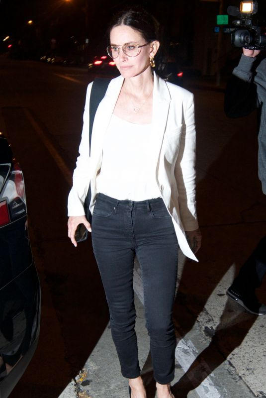 COURTENEY COX Night Out in Los Angeles 06/11/2019