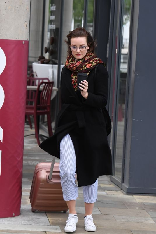 DAKOTA BLUE RICHARDS Leaves Costa Coffee in Manchester 06/21/2019