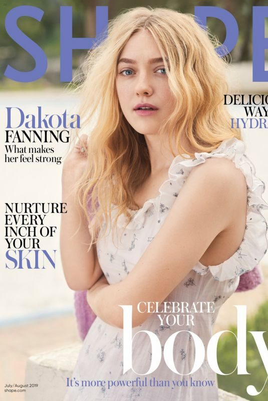 DAKOTA FANNING in Shape Magazine, July/August 2019
