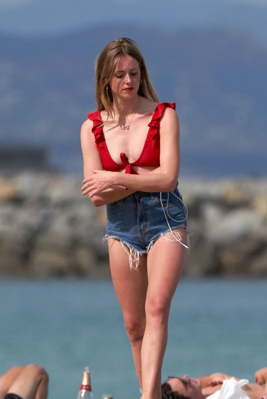 DIANA VICKERS in Bikini at a Beach in Barcelona 06/17/2019