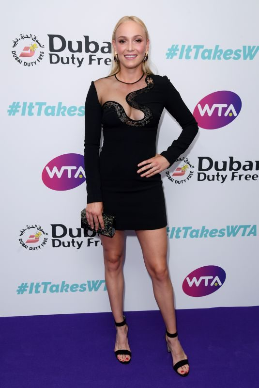 DONNA VEKIC at Dubai Futy Free WTA Summer Party in London 06/28/2019