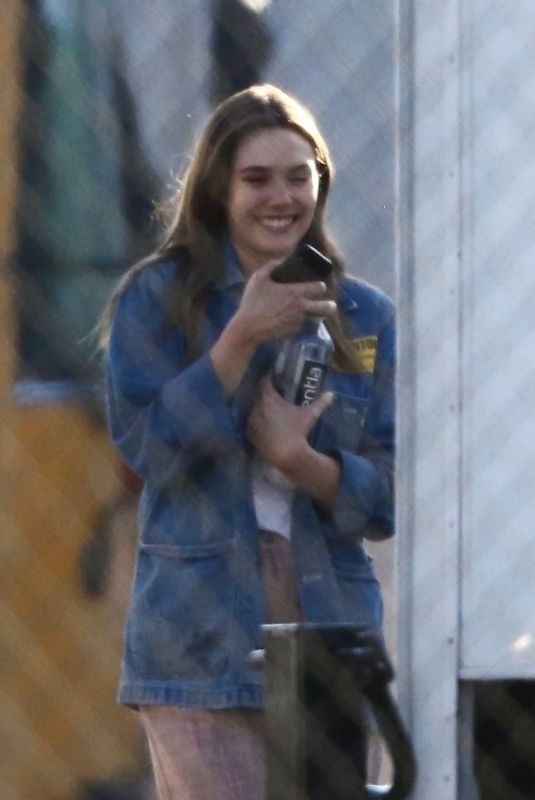 ELIZABETH OLSEN on the Set of Sorry for Your Loss in Los Angeles 06/26/2019