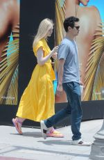 ELLE FANNING and Max Minghella Out in Los Angeles 06/15/2019