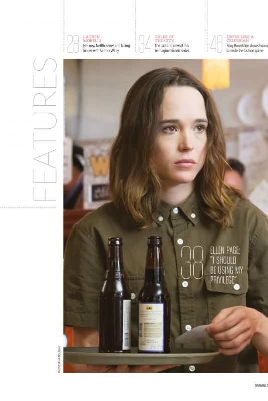 ELLEN PAGE in Diva Magazine, UK June 2019