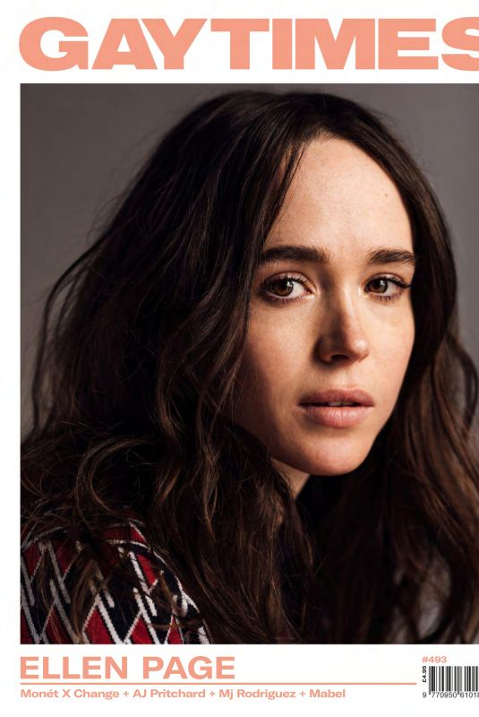 ELLEN PAGE in Gay Times, Magazine, issue #493
