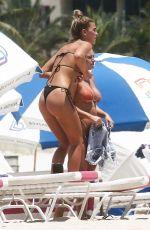 ELLIE BROWN and ABIGAIL GODDARD in Bikinis at a Beach in Miami 06/06/2019