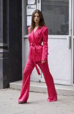 EMILY RATAJKOWSKI All in Red Out in New York 06/17/2019