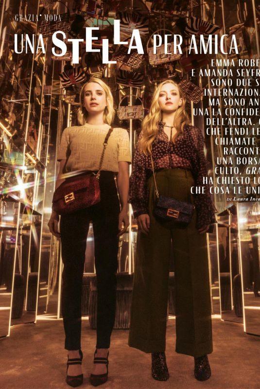 EMMA ROBERTS and AMANDA SEYFRIED in Grazia Magazine, Italy June 2019