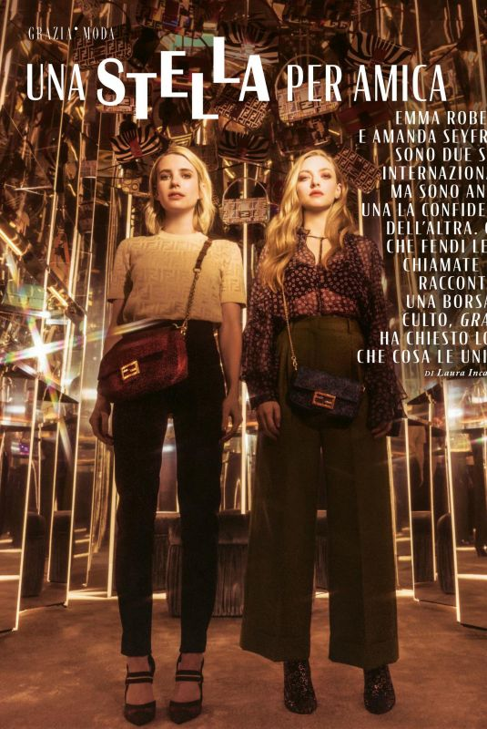 EMMA ROBERTS and AMANDA SEYFRIED in Grazia Magazine, Italy June 2019