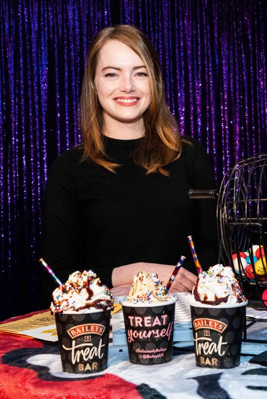 EMMA STONE at EM & Friends Charity Bingo Event in West Hollywood 06/24/2019
