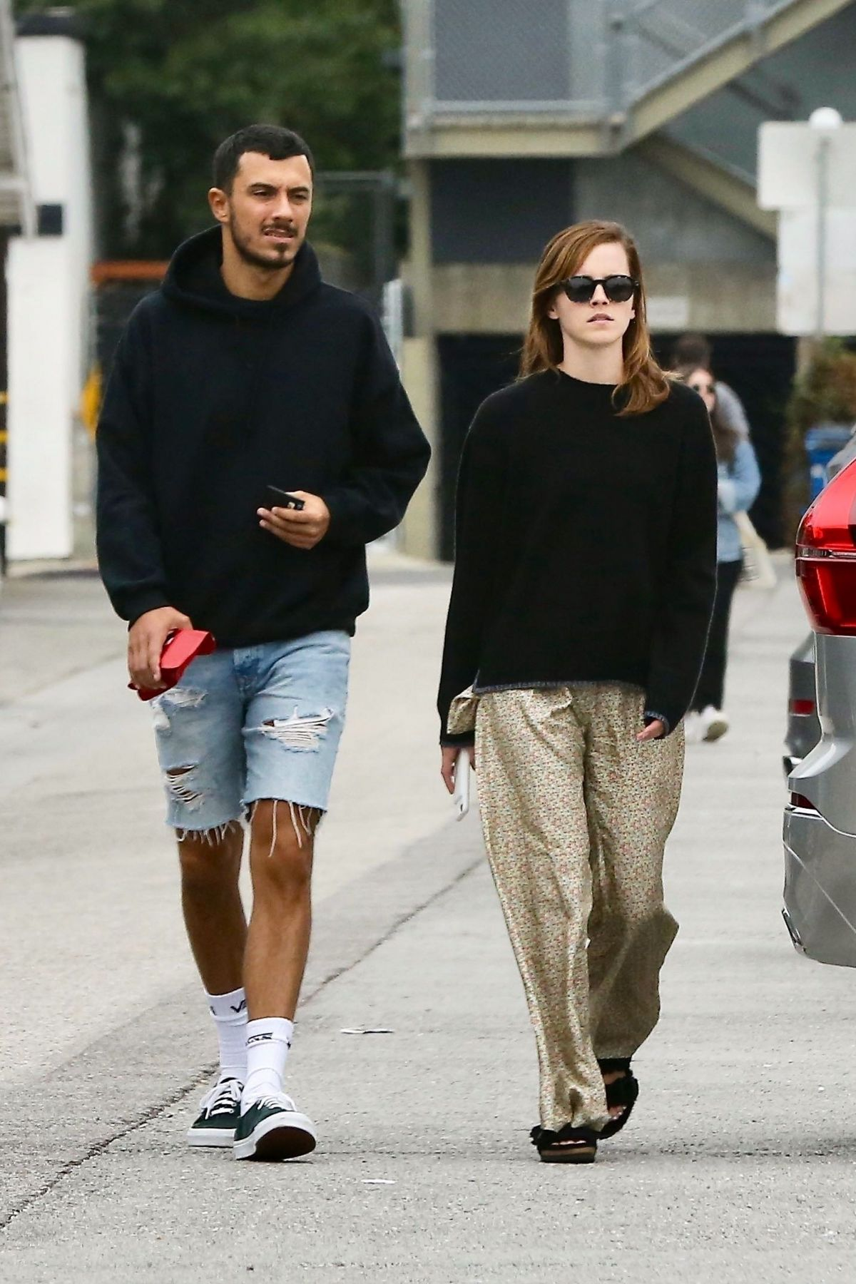 EMMA WATSON and an Friend from Brown University Out in