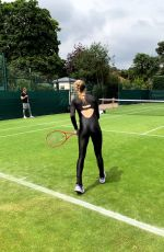 EUGENIE BOUCHARD Practice for Wimbledon - Instagram Pictures 06/26/2019