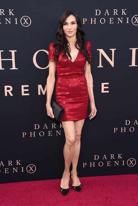FAMKE JANSSEN at Dark Phoenix Premiere in Hollywood 06/04/2019