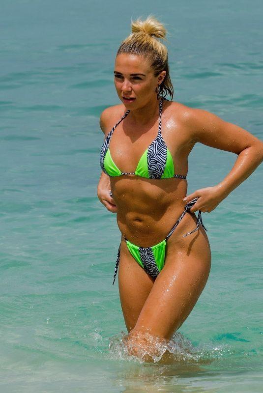 GABBY ALLEN in Bikini at a Beach in Barbados 06/20/2019