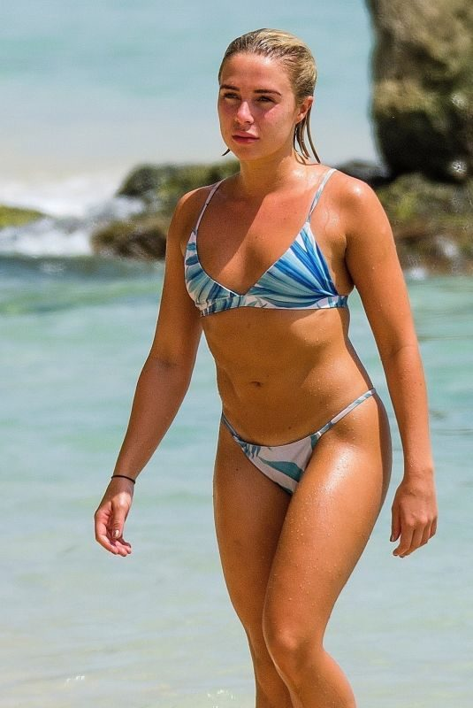 GABBY ALLEN in Bikini at a Beach in Barbados 06/21/2019