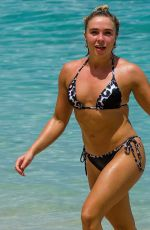 GABBY ALLEN in Bikini on the Beach in Barbados 06/16/2019