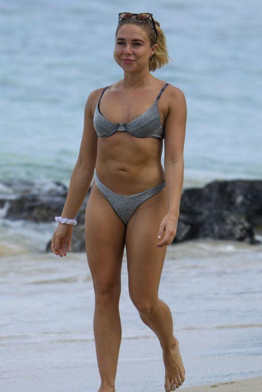 GABBY ALLEN in Bikini on the Beach in Barbados 06/18/2019