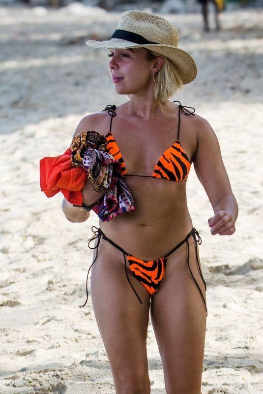 GABBY ALLEN in Bikini on the Beach in Barbados 06/22/2019