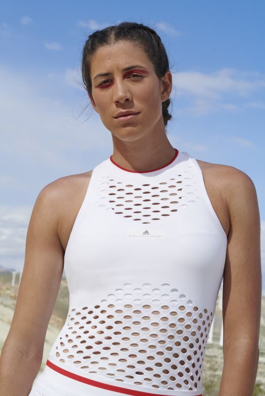 GARBINE MUGURUZA for Adidas x Stella McCartney Wimbledon Collection Made from Parley Ocean Plastic 03/04/2019
