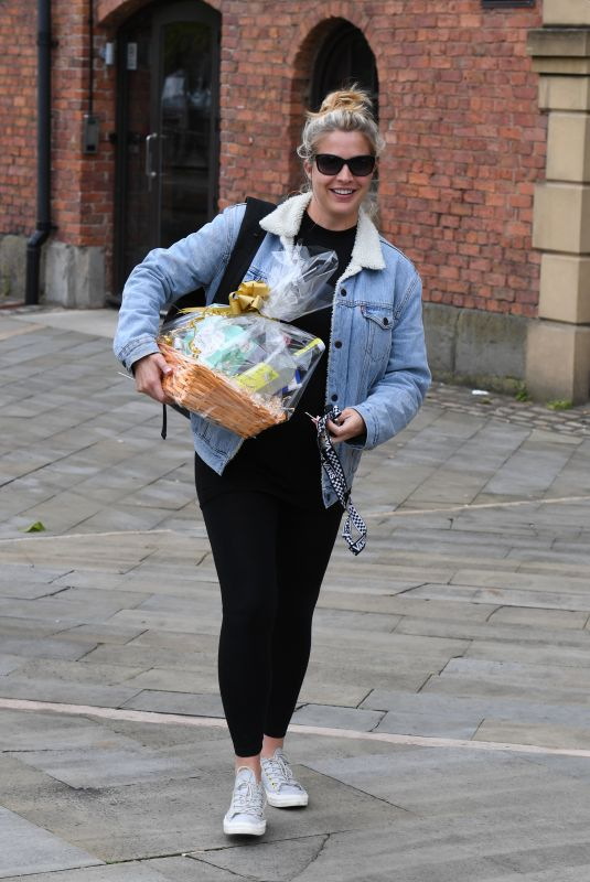 GEMMA ATKINSON Leaves Hits Radio in Manchester 06/07/2019